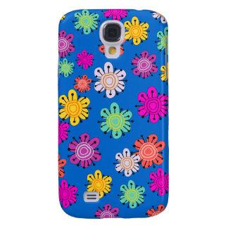 Decorative Multicolored Flowers Galaxy S4 Cover