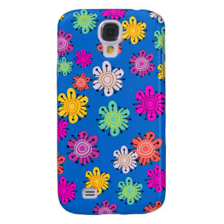 Decorative Multicolored Flowers Galaxy S4 Case