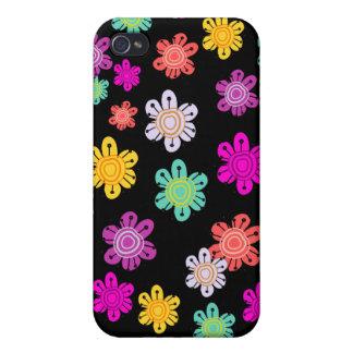 Decorative Multicolored Flowers iPhone 4/4S Case