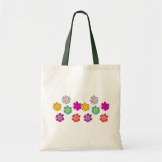 Decorative Multicolored Flowers Tote Bag