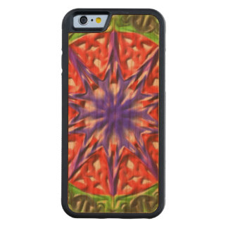 Decorative multicolored pattern carved cherry iPhone 6 bumper case