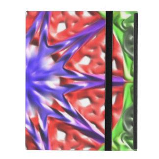 Decorative multicolored pattern iPad folio case