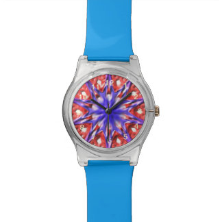 Decorative multicolored pattern watch