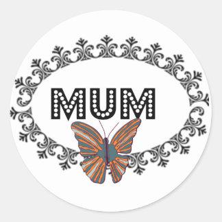 Decorative Mum Round Stickers