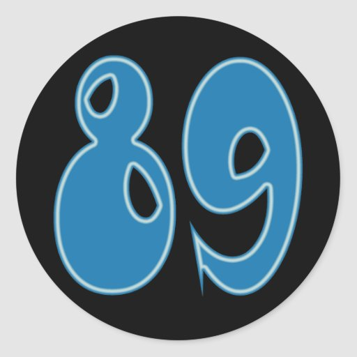 DECORATIVE NUMBER 89 ROUND STICKERS | Zazzle
