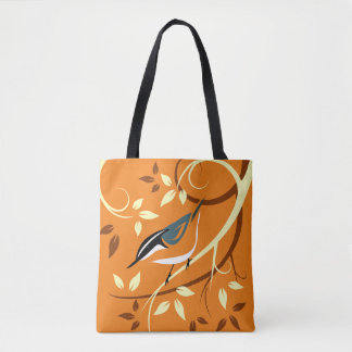 Decorative Nuthatch Art Tote Bag
