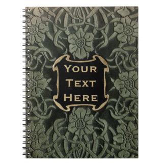 Decorative old book cover: Retro floral design Note Book