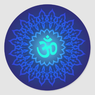Decorative Om Design Classic Round Sticker