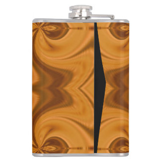 Decorative Orange wood pattern Hip Flask