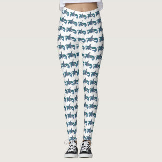 Decorative Orca Pattern Leggings