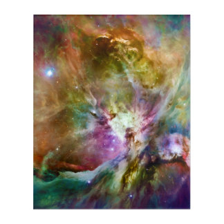 Decorative Orion Nebula Galaxy Space Photo Acrylic Wall Art