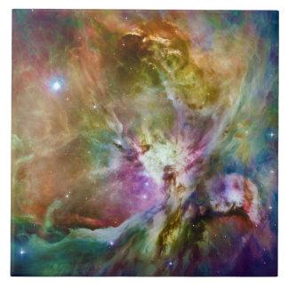 Decorative Orion Nebula Galaxy Space Photo Large Square Tile