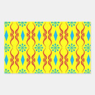 Decorative Ornate Stripe Rectangular Sticker