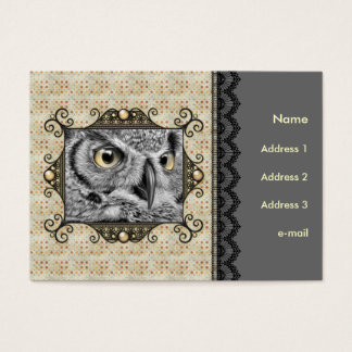 Decorative Owl Business Card
