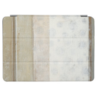 Decorative Panel Painting in Neutral Colors iPad Air Cover