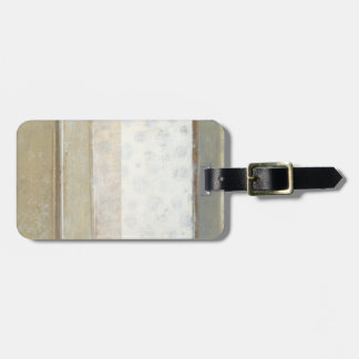 Decorative Panel Painting in Neutral Colors Luggage Tag