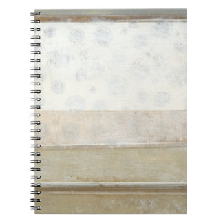 Decorative Panel Painting in Neutral Colors Spiral Note Book