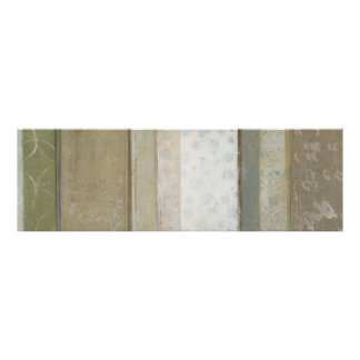 Decorative Panel Painting in Neutral Colors Poster