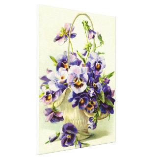 Decorative pansies canvas prints