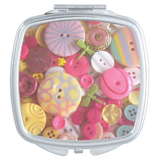 Decorative Pastel Buttons Vanity Mirrors