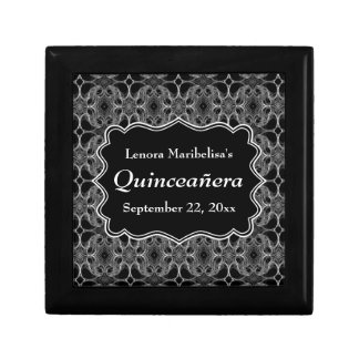 Decorative Pattern Black and White Quinceanera Gift Box