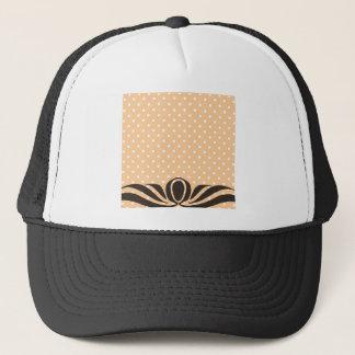 Decorative Peach Polka Dots Trucker Hat