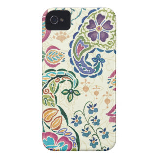 Decorative Peacock and Colorful Flowers Case-Mate iPhone 4 Case