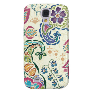 Decorative Peacock and Colorful Flowers Galaxy S4 Case