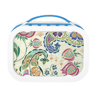 Decorative Peacock and Colorful Flowers Lunch Box