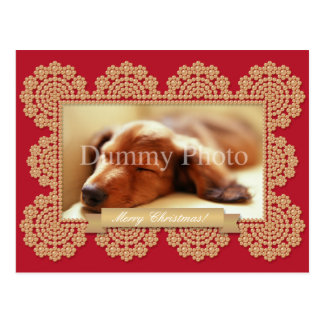 Decorative photo frame Christmas card Postcard