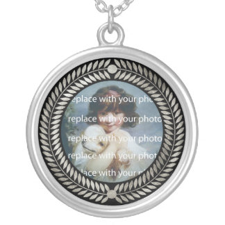 Decorative Photo Frame Silver Plated Necklace