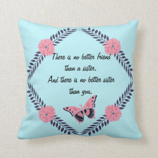 Decorative Pillow Sister Quote Customise Butterfly