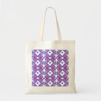 Decorative Pink And Purple Paisley Pattern Budget Tote Bag