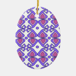Decorative Pink And Purple Paisley Pattern Christmas Tree Ornament