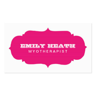Decorative Pink Badge Myotherapist Pack Of Standard Business Cards