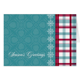 DECORATIVE PLAID Holiday Card