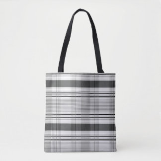 Decorative plaid pattern tote bag