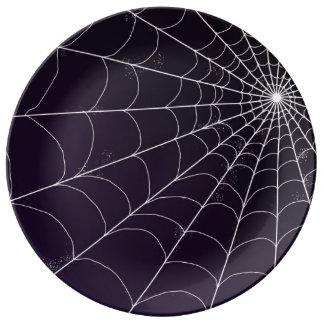 Decorative Plate - Spiderweb on Violet