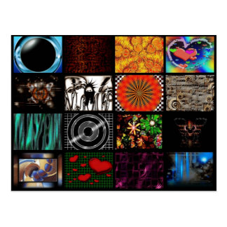 Decorative  Pop Arts Pattern Postcard