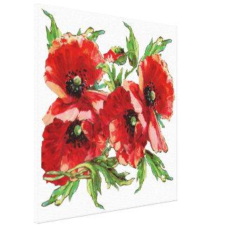 Decorative poppies canvas print