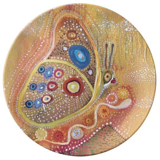 Decorative Porcelain Plate Butterfly Art Painting