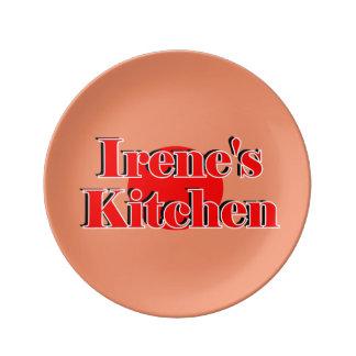 Decorative Porcelain Plate W/Irene's Kitchen Logo