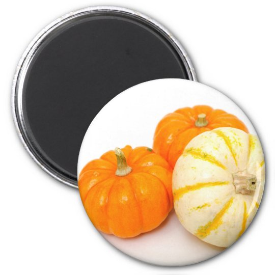 Decorative Pumpkins 6 Cm Round Magnet