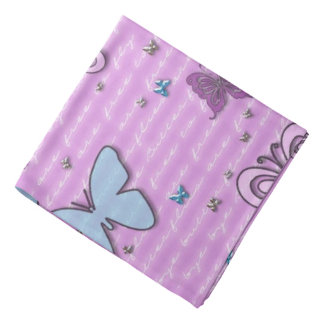 Decorative Purple and Blue Butterfly Bandana
