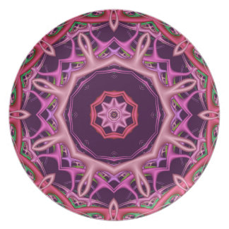 Decorative purple / pink kaleidoscope plate