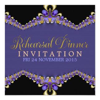 Decorative Purple Rehearsal Dinner Invitations