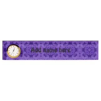 Decorative Purple wood pattern Name Plates