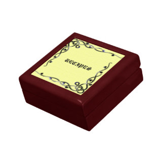 Decorative Recipe Gift Box with Black and Yellow