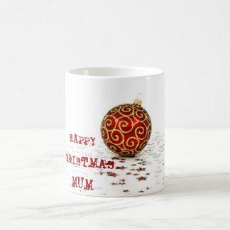 Decorative Red Christmas Balls Basic White Mug