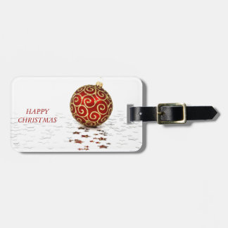 Decorative Red Christmas Balls Luggage Tag